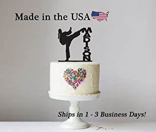 Karate Cake Topper with FREE Keepsake Base, Karate Decor, Cake Topper, Female Martial Arts, Cake Toppers, Acrylic, Birthday Party, Cake Decoration, Cupcake