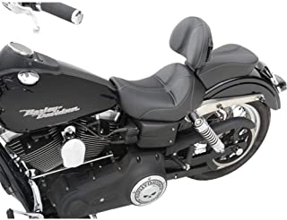 Saddlemen Dominator Solo Seat with Backrest Option Smooth SaddleHyde Motorcycle Accessories - Black
