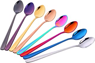 Do Buy Long handled 8-inch Iced Tea Coffee Spoons Cold Drink Spoons Stirring Spoons, Set of 8