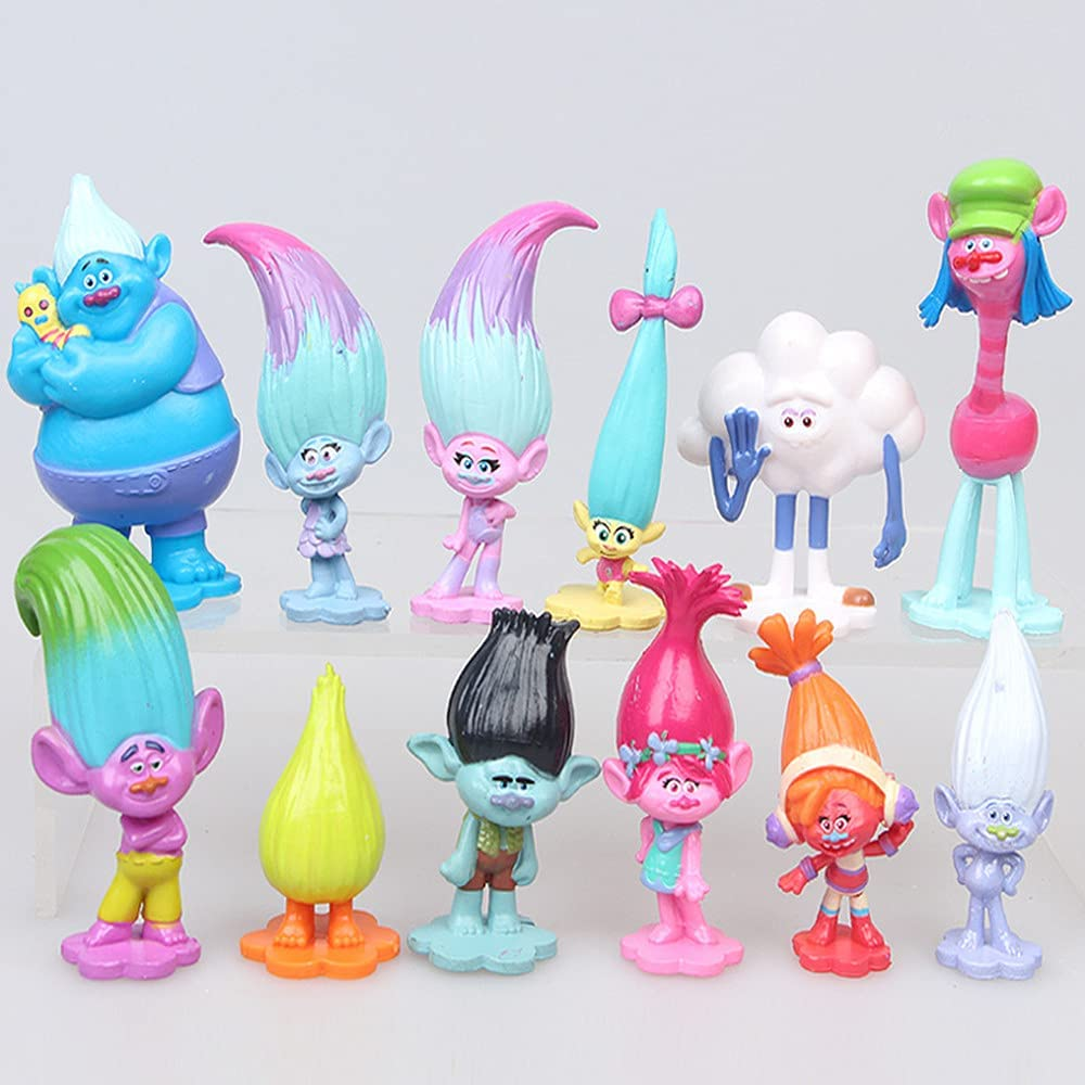 12pcs Trolls Toys Mini Action Figures NEW before selling ☆ Tall - OFFicial site