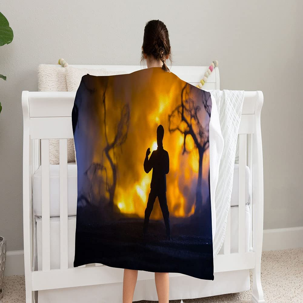 LPVLUX Karate safety Athletes Night Fighting Baby Inventory cleanup selling sale Burning1 Scene Blanke