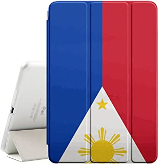STPlus Philippines Filipino Flag Smart Cover With Back Case + Auto Sleep/Wake Funtion + Stand for Apple iPad 2017 (9.7