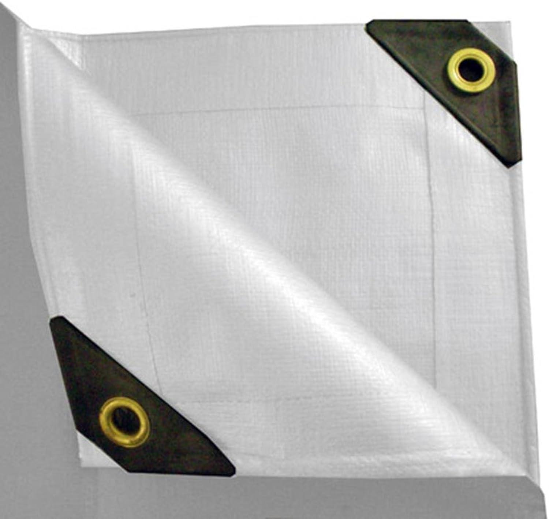 UST Inc. 12 x 24 Heavy Duty Canopy Tarp  White 12 mil