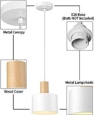 Modern Mini Pendant Lighting, Imego Ceiling Hanging Light Fixture, Metal Pendant Lamp for Kitchen Island, Dining Room Table,