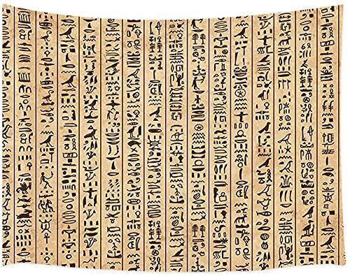 Tapiz de jeroglíficos del antiguo Egipto, símbolos del alf