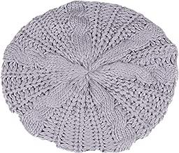 TWGONE Womens Beret Hats Winter Warm Knit Baggy Beanie Ski Hat Slouchy Chic Bailey Cap