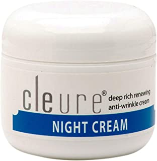 Cleure Hypoallergenic Anti-Aging Night Cream for Sensitive Skin | Fragrance - Gluten - Salicylate - Paraben Free | 100% Pure Shea Butter - Alpha Lipoic Acid - Antioxidants | 2 Oz