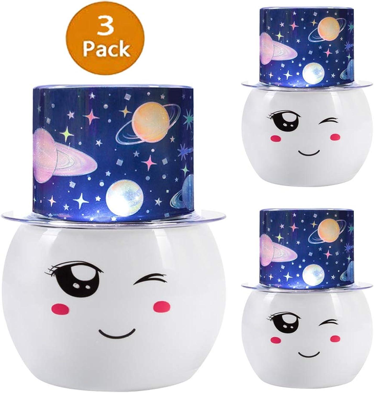 CSDM.AI Lampe Mit Projektion 360 Grad Rotierende Stern-Projektor-Lampe LED Bunten Geflle Kosmische Nachtlicht Kinder Und Jugendliche Geschenke