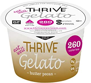 Thrive Frozen Nutrition, Butter Pecan Gelato, 4 oz Cups (36 count)
