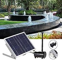 ソーラーポンプ ソーラー噴水 池の庭の屋外の水中キットのための太陽電池パネルの動力の無駄な給水噴水ポンプ 水循環 ガーデン 池 ポンド プール