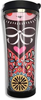 NiYoung Vacuum Insulated Tumbler Stainless Steel Water/Tea/Coffee Cup, Russian Matryoshka Doll Thermal Travel Mug for Ice Drink Hot Beverage