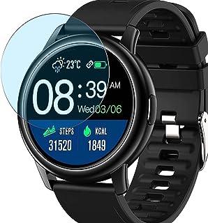 Vaxson 3-pack anti-blått ljus skärmskydd, kompatibel med Donerton BOZLUN S27 1,3 tum smart klocka smartwatch, TPU Guard Fi...