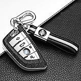 ontto Funda Carcasa Protectora para Llave de Coche para BMWX1 X3 X5 X7 F15 F48 X6 F15 F86 G30 Serie 1 2 5 7 F21 218i 530li con Llavero Cubierta de TPU Remoto Mando Coche 4 Botones-Plata