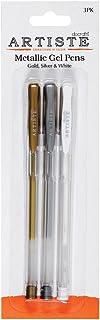 Artiste-Lote de 3 bolígrafos de Tinta de Gel de Metal, Multicolor