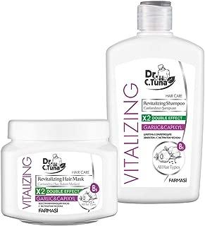 Farmasi Dr C Tuna Vitalizing Revitalizing Hair Mask and Shampoo Garlic&Capixyl (Set)