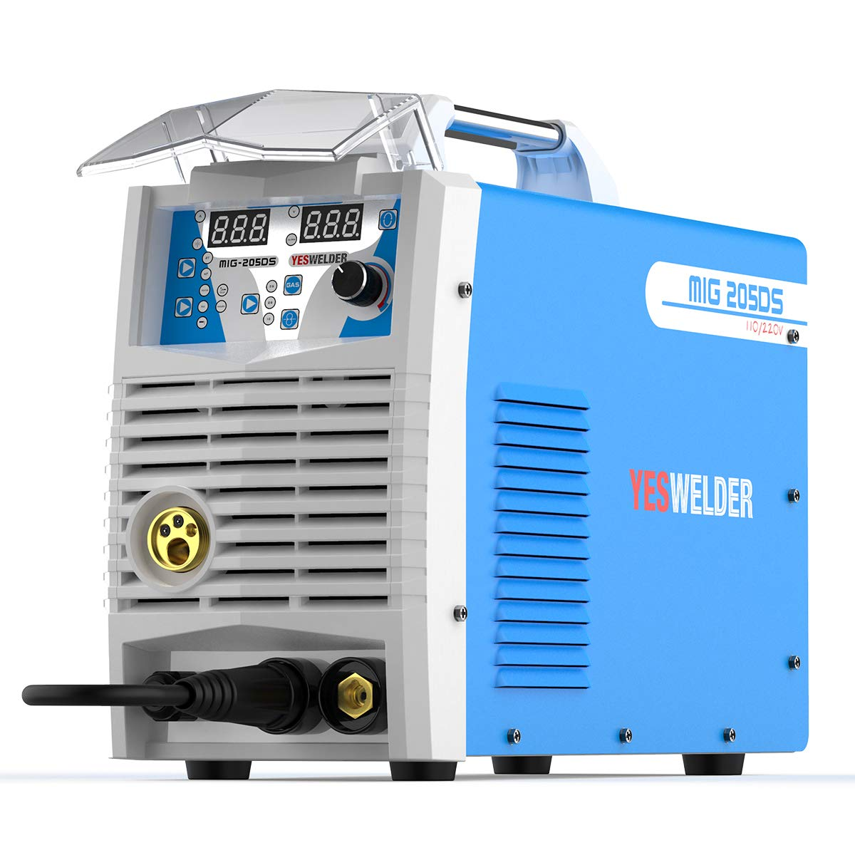 Mig Welder MIG-205 MIG TIG ARC Welding Machine Gas Gasless Welder 110/220V Dual Voltage Mig Welding Machine 3 in 1
