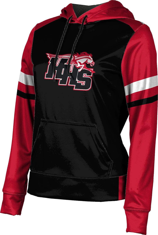 ProSphere Huntley High School Girls' Pullover Hoodie, School Spirit Sweatshirt (Old School)