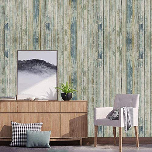 practicalWs 17.71'x78.7' Wood Peel and Stick Wallpaper Self-Adhesive Removable Wall Paper Faux Distressed Wood Plank Covering Decorative Vintage Wood Panel Wooden Grain Vinyl Film Roll