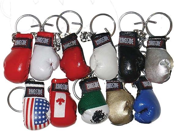 mini boxing gloves keychain keyring key chain ring leather Flag Azerbaijan
