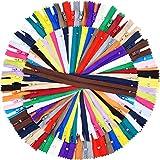 9 Pulgadas y 12 Pulgadas de Cremallera de Costura 25 Colores Cremalleras Coloridas de Bobina de Nylon para Costura Manualidades, 100 Piezas