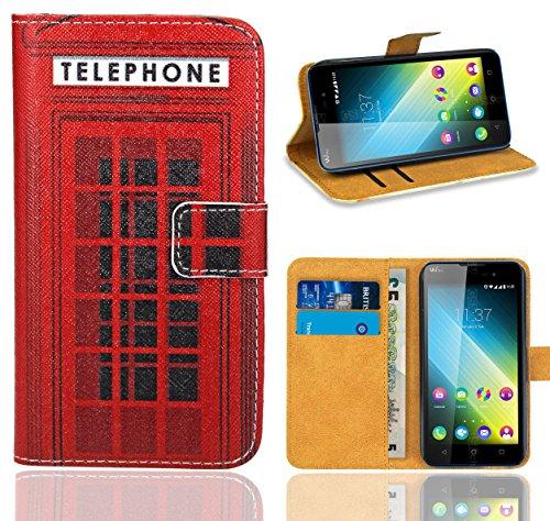 Wiko Lenny 2 Handy Tasche, FoneExpert® Wallet Hülle Flip Cover Hüllen Etui Ledertasche Lederhülle Premium Schutzhülle für Wiko Lenny 2 (Pattern 12)