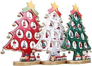 Hemobllo Stylish Mini Wooden Christmas Tree Figurine Christmas Desktop Ornaments Holiday Christmas Party Decorations for H...