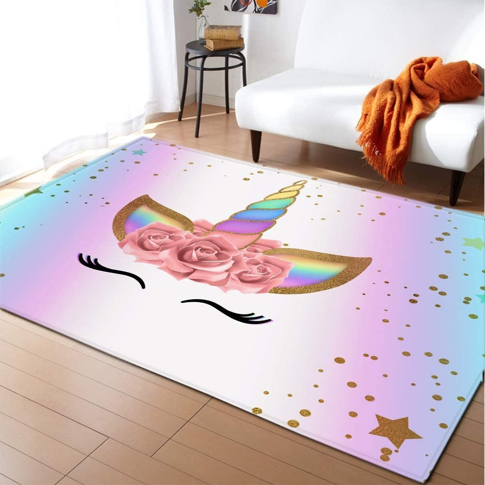 17 Styles Unicorn 3D Printed Child Carpets Bedro New color Living Room for 5 ☆ very popular