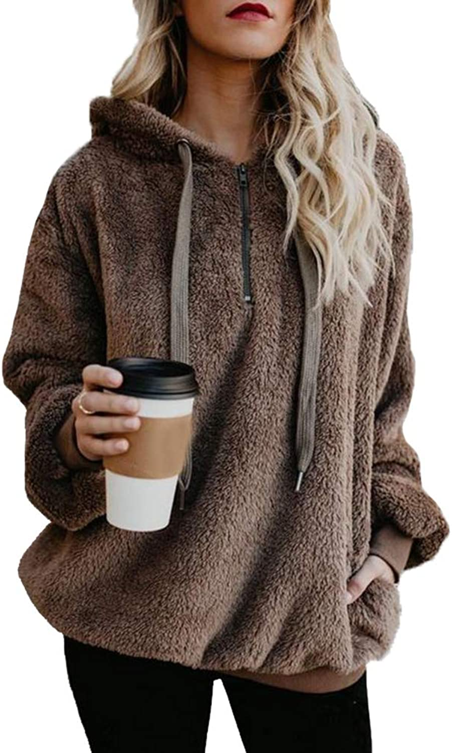 Women's Winter Fashion Solid Outerwear Warm Thick Faux Fur Coat