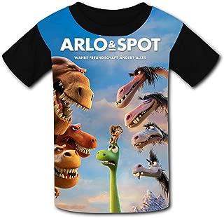 QIANBAIHUI Kids Youth The Good Dinosaur 3D Printed O-Neck T-Shirt Tees