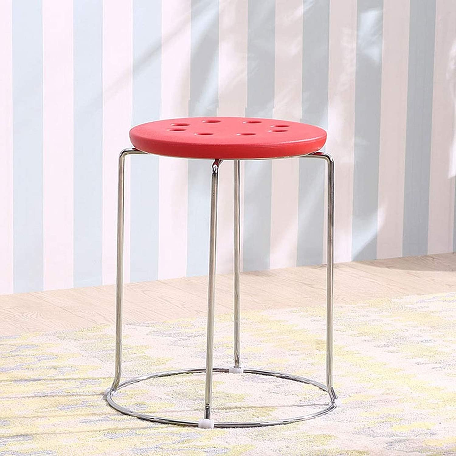 5d2a634d4964 Simple Red) (color 32cmX45cm - Chair Dining Chair, Room Living Stool ...