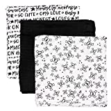 HonestBaby 3-Pack Organic Cotton Swaddle Blankets, Tossed Skulls, One Size
