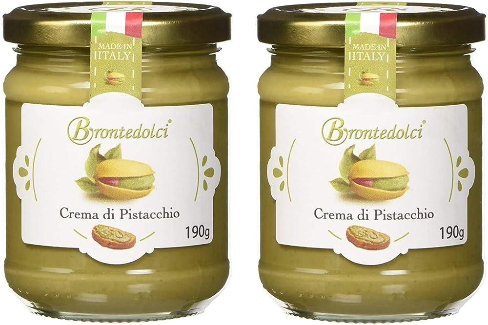 Brontedolci,2 vasetti - crema di pistacchio con il 40% di pistacchi di sicilia