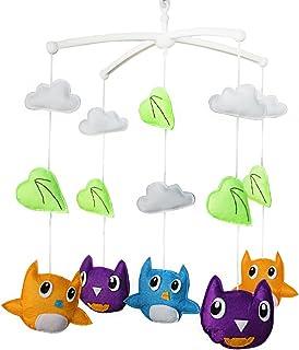 Des oiseaux Décoration de lit bébé Musique Berceau Mobile Cadeaux faits à la main Jouet suspendu