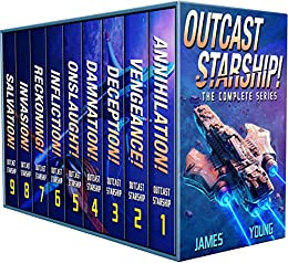 Outcast Starship: The Complete Series (Books 1-9) by [Joshua James, Daniel Young]