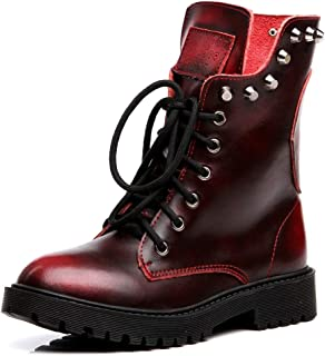 red leather motorcycle boots