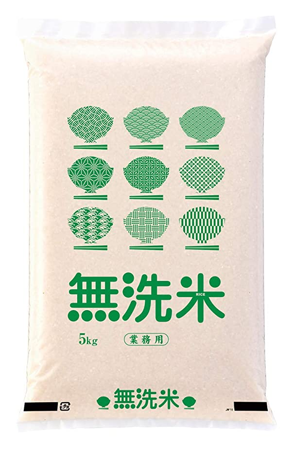 スイング活性化蛾米袋 ポリ乳白 マイクロドット 業務用 無洗米 グリーン 5kg 1ケース(500枚入) PD-1410