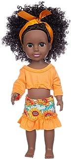 Czarne afrykańskie lalki dla dziewczynek, czarna lalka dziecko afrykańska dziewczyna lalka afrykańskie lalki do zabawy rea...