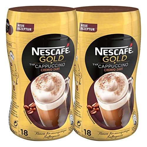 Nescafé Gold Typ Cappuccino, Cremig Zart, Löslicher Bohnenkaffee, Instantkaffee, Kaffee, Dose, 2 x 250 g, 12311730
