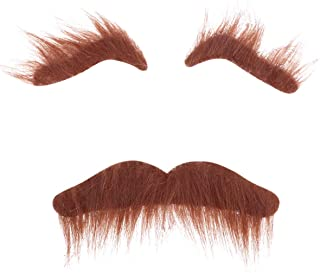 TINKSKY Novelty Costumes Self Adhesive Fake Eyebrows Beard Moustache Kit Facial Hair Cosplay Props Disguise Decoration for...