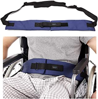 Wheelchair Seat Belt Cushion Harness Straps Medical Patients Positioning Restraint Soft Padded Safety Easy Release Adjustable Front Latch Buckle (Front Open Wheelchair Belt)
