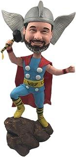 Regalo personalizzato Thor Thor Natale Thor Bobble Head Thor Torta di compleanno Topper Marito Fidanzato Figlio Capo Regal...