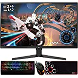 LG 32GK650F-B 32-inch Class QHD 2560 x 1440 Gaming Monitor with FreeSync 31.5-inch Diagonal Bundle with Deco Gear Wired Gaming Mouse, Deco Gear Mechanical Gaming Keyboard and Deco Gear Mouse Pad
