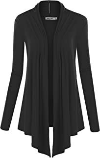 Lock and Love Women's Basic Draped Long Sleeve Open Front...