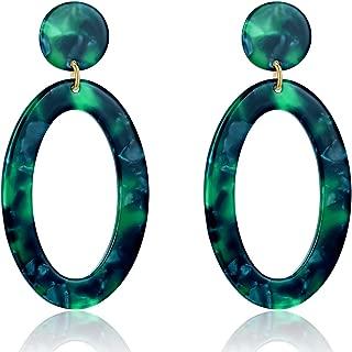 Acrylic Earrings Tortoise Shell Resin Earrings Drop Dangle Statement Earrings for Women Fashion Jewelry