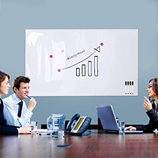 """ZHIDIAN Magnetic Whiteboard Sticker for Wall/Door, 60"""" x 36"""" Large Self Adhesive White Board Wallpaper, Whiteboard Contact Paper, Large Dry Erase Sheet/Film for Office/Home/School"""