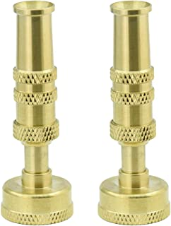 PLG Solid Brass Adjustable Twist Hose Nozzle Garden Hose Sprayer