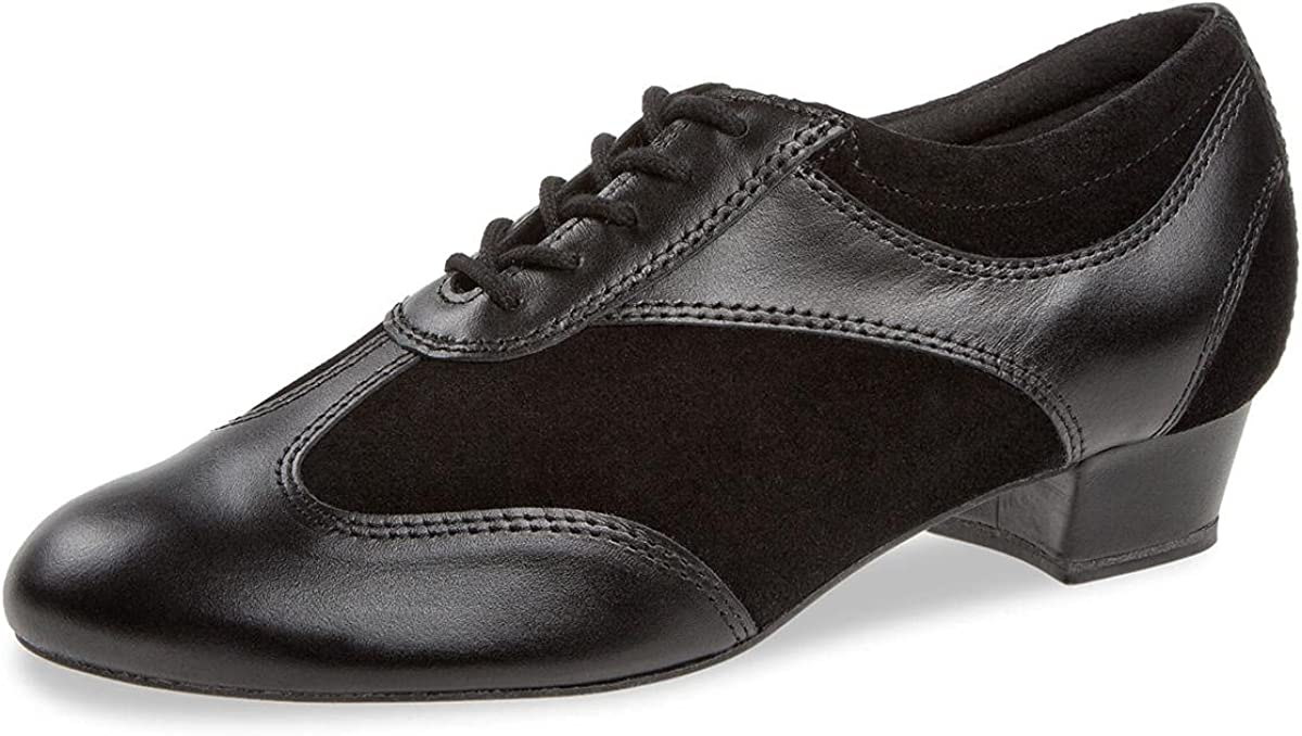 Diamant Women's Dance Shoes 183-029-070-V - Suede / Leather Black - Normal - 2.8 cm Block - Made in Germany