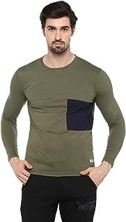 Alan Jones Clothing Men's Lycra Color Block Full Sleeves T-Shirt