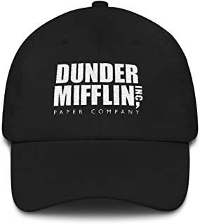 The Office Dunder Mifflin Embroidered Hat Black