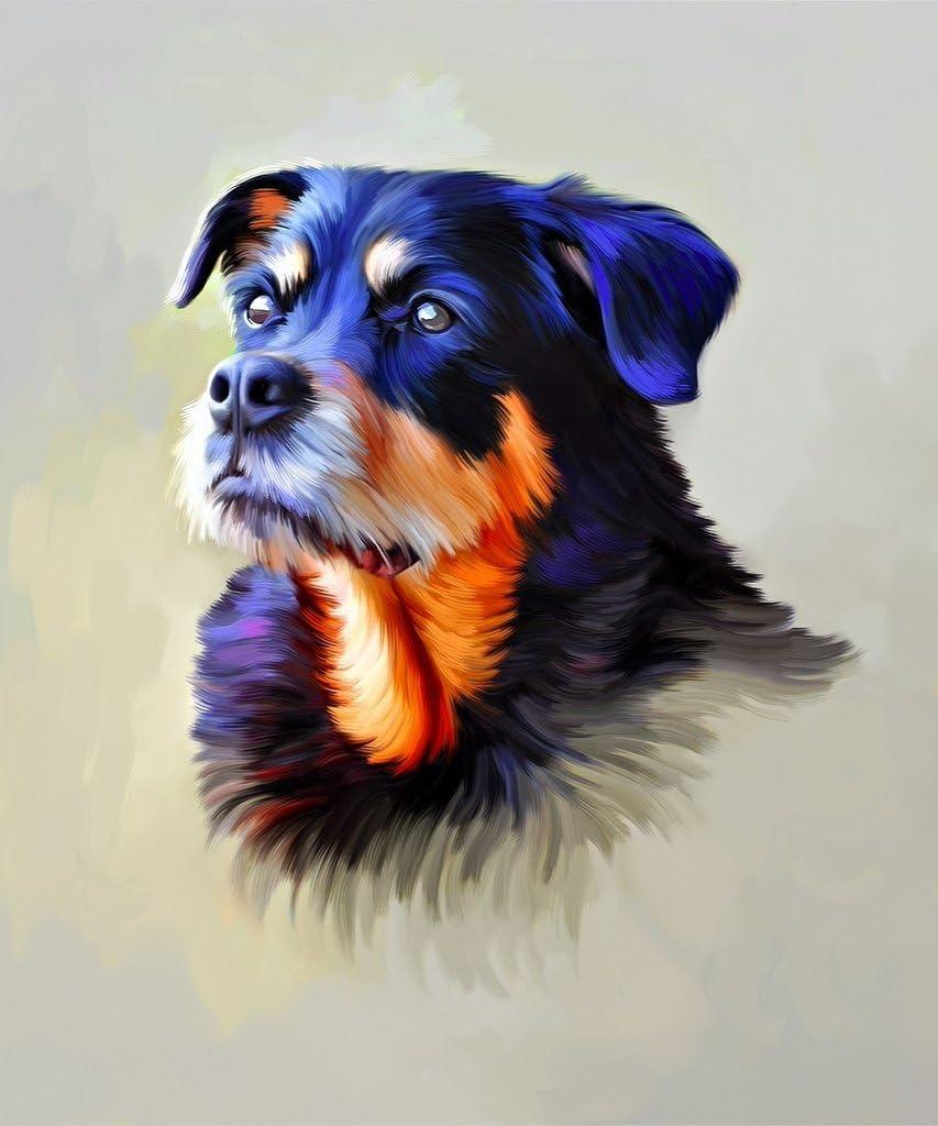Popular popular Christmas Gift Custom Portrait Dog Max 80% OFF - Indi Oil Painting